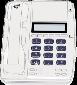 Numer internetowy możliwy jest w telefonie stacjonarnym. Źródło: Pixabay.com.