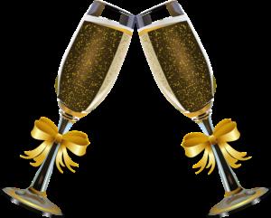 Szampana można pić w wielu okolicznościach. Źródło: Pixabay.com.